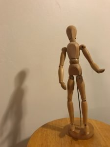 Wooden Art Model of a Human